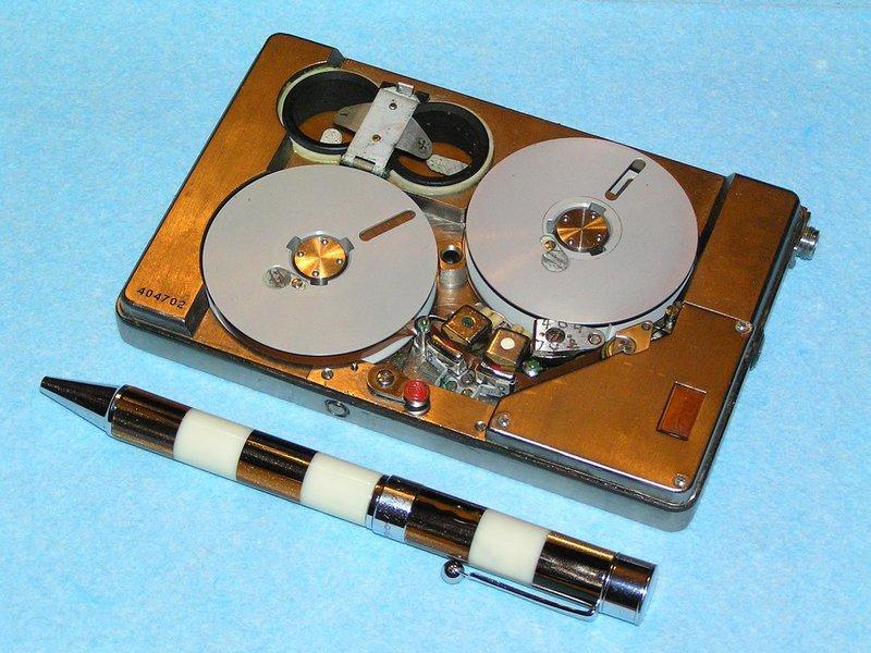 Russian spy pocket miniature tape recorder