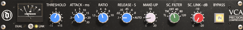 mix:analog Gold Can VCA compressor settings