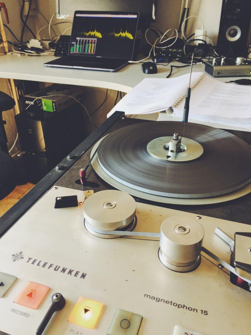 calibrating the Telefunken M15 tape machiune