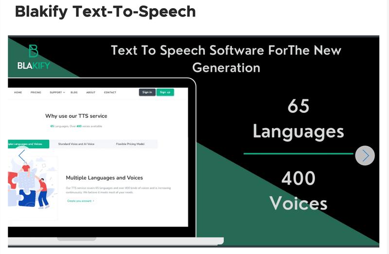 Blakify Text to Speech Program