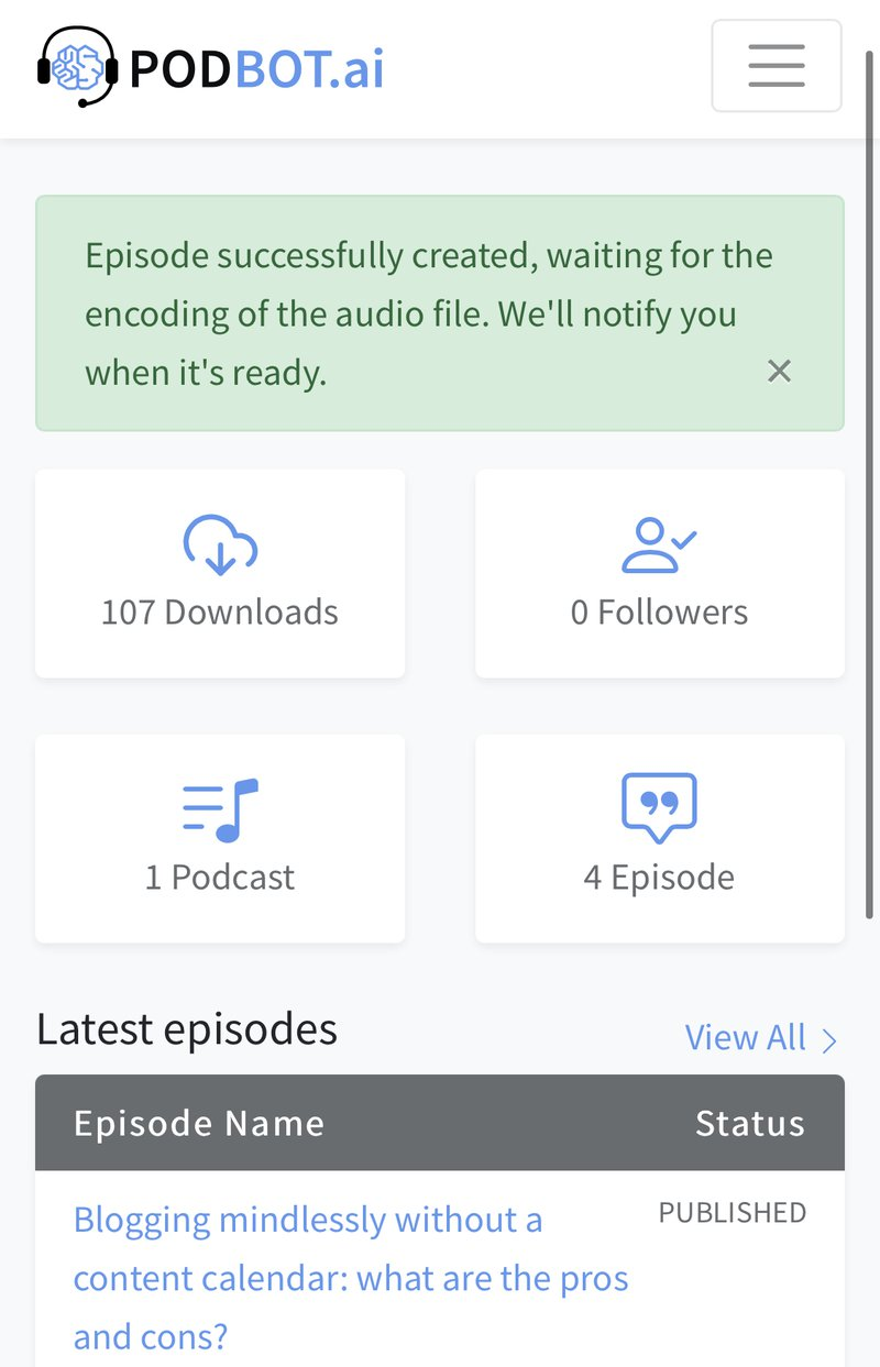 Creating a new podcast using Podbot. Blog by Amar Vyas