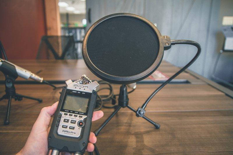mic' check. Representative image for podcast Recording. Blog by Amar Vyas