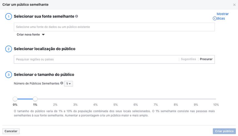 como criar um público semelhante no Facebook Ads
