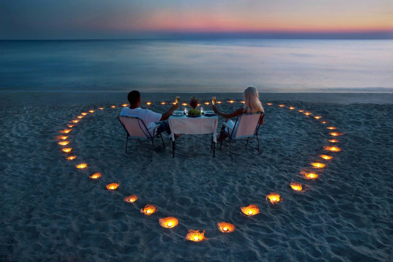 strand, hart, kaarsen, koppel, gezellig, romantisch  - Taken Bruidegom - House of Wedding