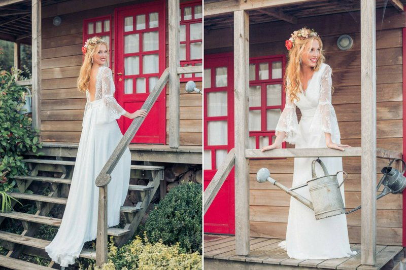 Boho stijl trouwjurk - Charline Verbeken - House of Weddings