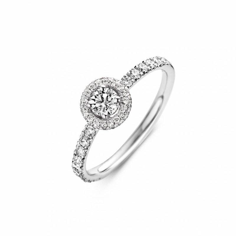 Halo ronde ring van Martens Juwelier-Createur - House of Weddings