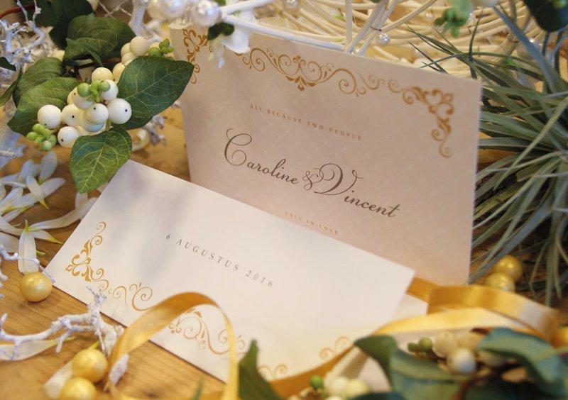 Klassiek drukwerk uitnodiging - Anderz - House of Weddings