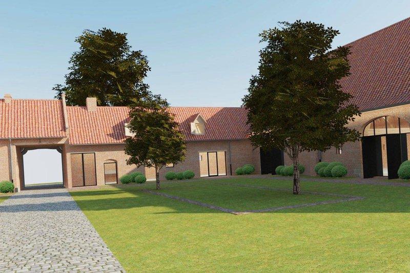 Hoeve de Blauwepoorte. hippe gerestaureerde hoeve dienend als nieuwe trouwlocatie met binnenkoer en landelijke rustige omgeving. Gelegen te Kortrijk, West-Vlaanderen.- House of Weddings