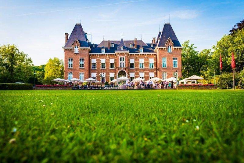 kasteel, natuur, groen, gras, feest, tenten, bomen - Romantische Feestzaal - House of Weddings