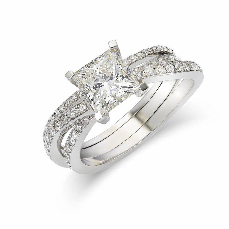 Princess cut ring Heursel - House of Weddings