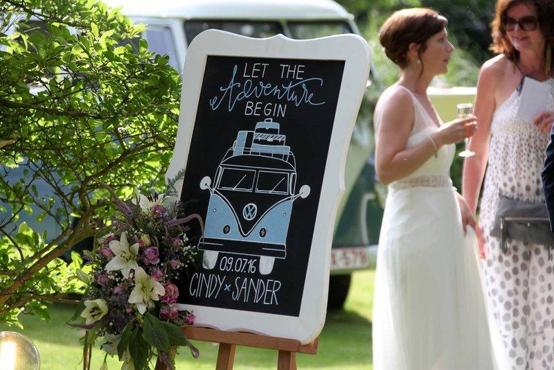 Leuke eyecatchers op je huwelijk - Welkomstbord - Krijtbord - Vicky Chalks A Lot