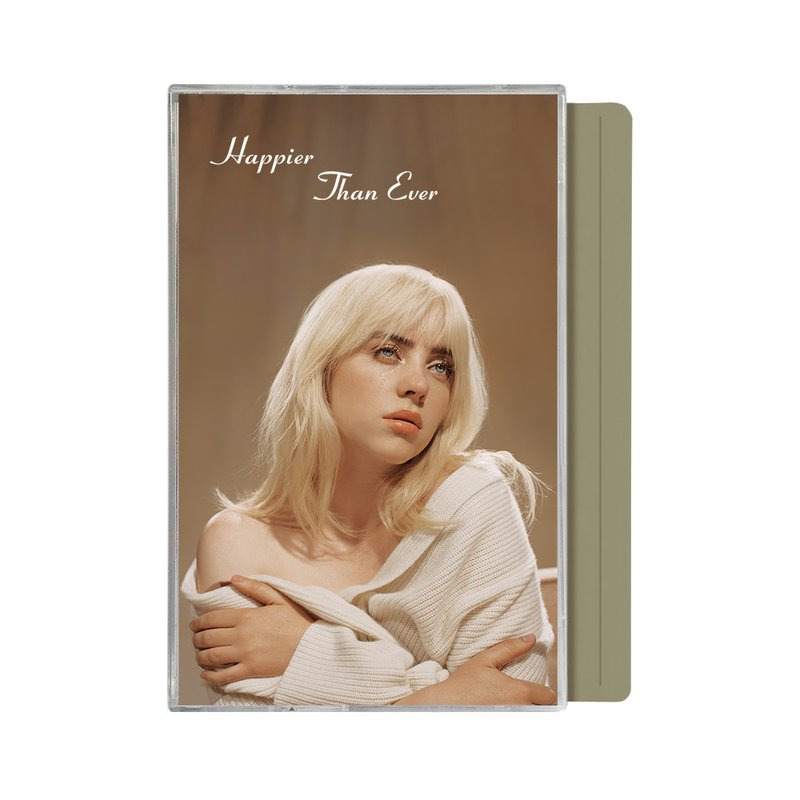 Happier Than Ever Olive Cassette Tape