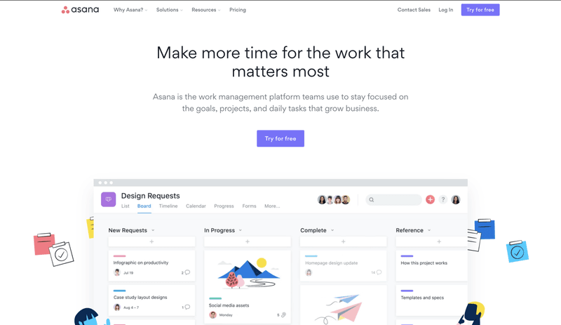 Asana is our favourite project manager tool