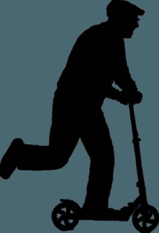 Rentner auf E-Scooter