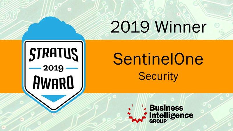 """SentinelOne Nominato Leader agli Stratus Awards 2019 nella categoria """"Cloud Computing"""""""