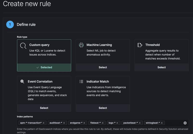Creazione Nuove Regole - Elastic Security