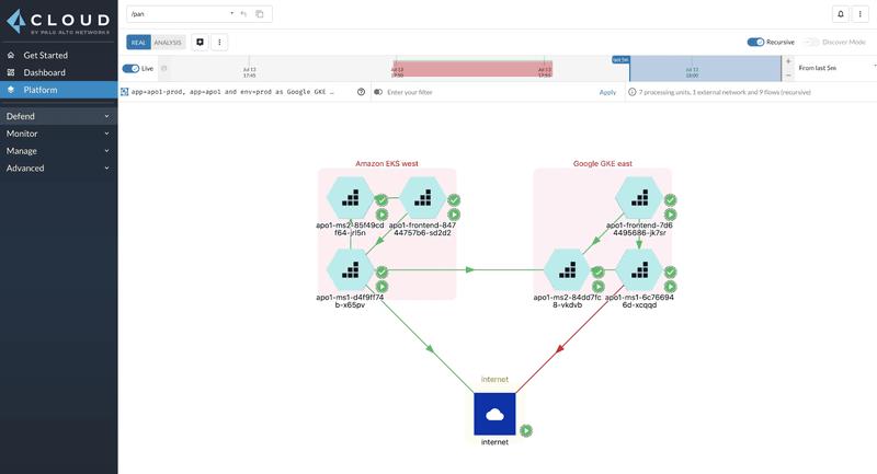 Gestione Identity-Based Microsegmentation in Prisma Cloud
