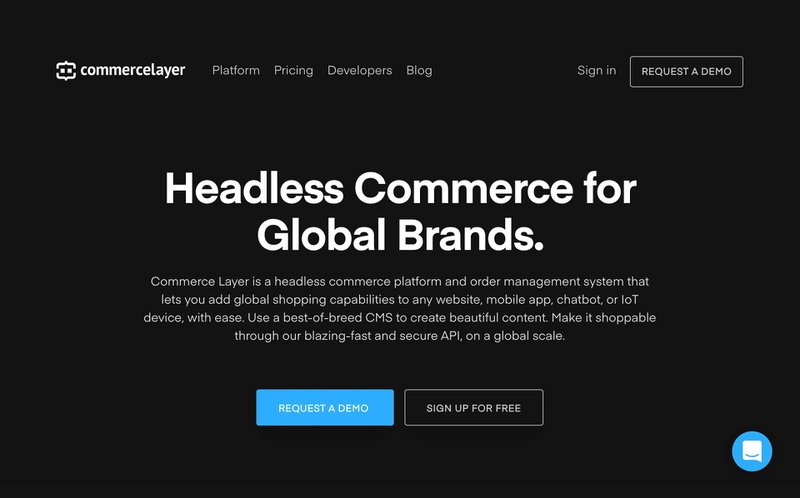 Commerce Layer - Homepage