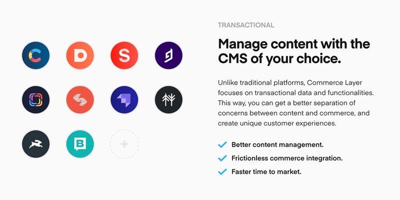 Integrazione con i Principali CMS | Commerce Layer