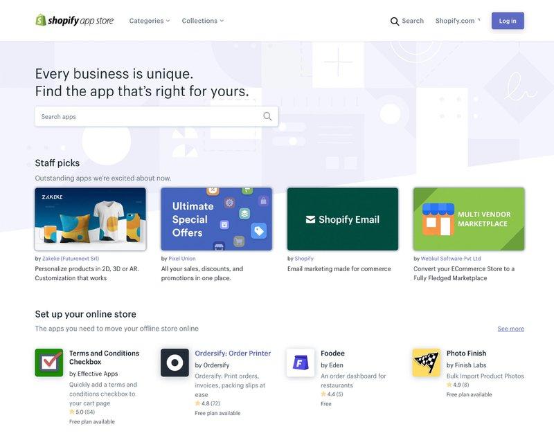 Shopify App Store | Commerce Layer vs Shopify
