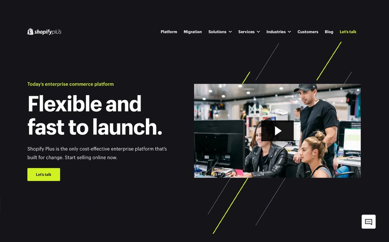 Shopify Plus - Homepage | Commerce Layer vs Shopify