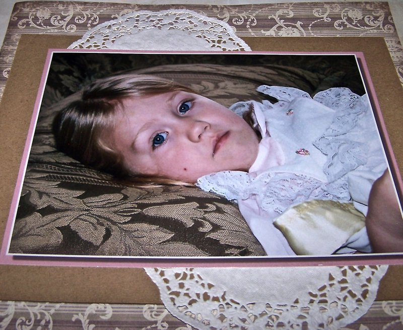 Mounted Little Girl's photo