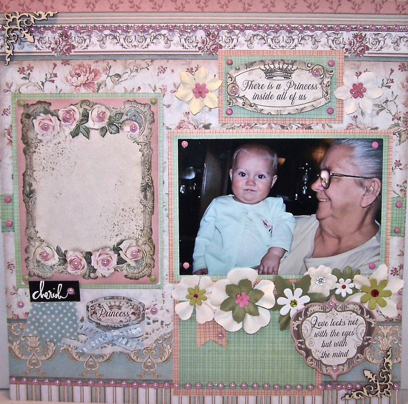 Grandmother and Baby Layout
