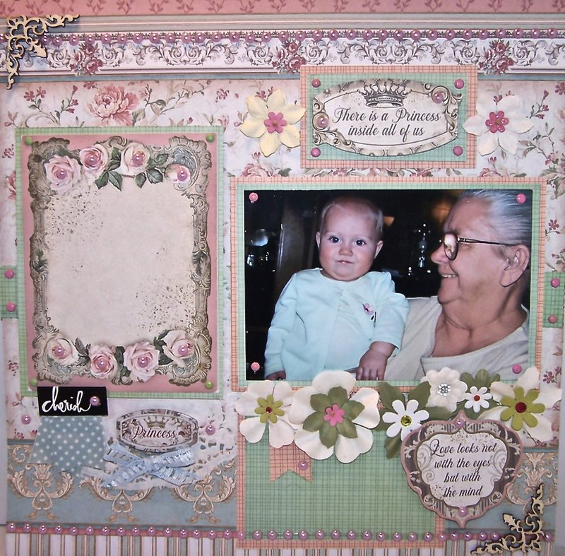 Baby and Grandmother layout