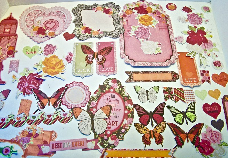 Bo Bunny Sweet Clementine Chipboard Stickers