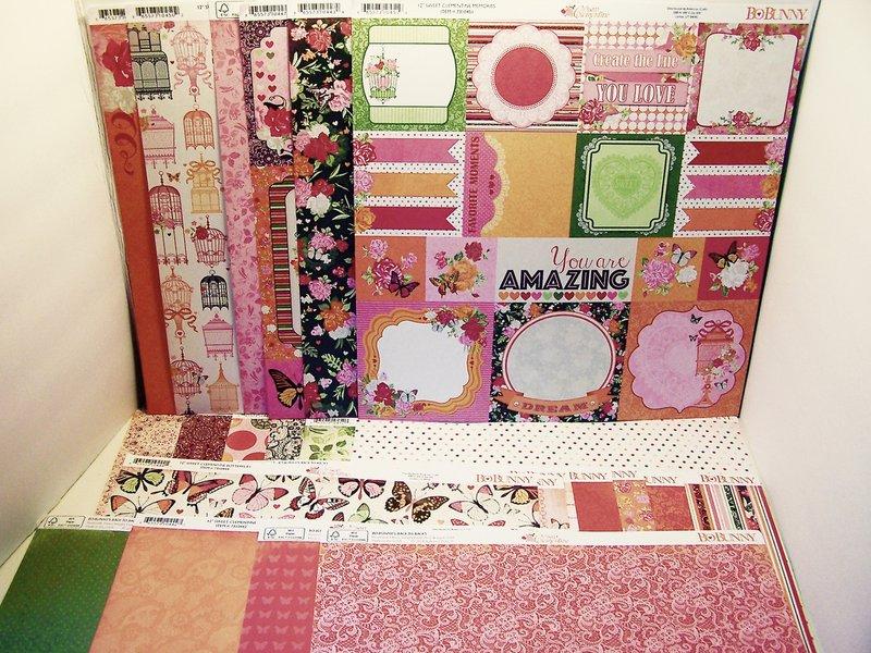 Bo Bunny Sweet Clementine Scrapbook paper