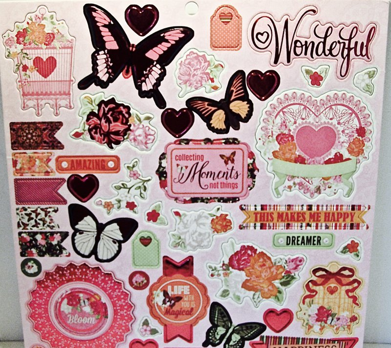 Scrapbook chipboard