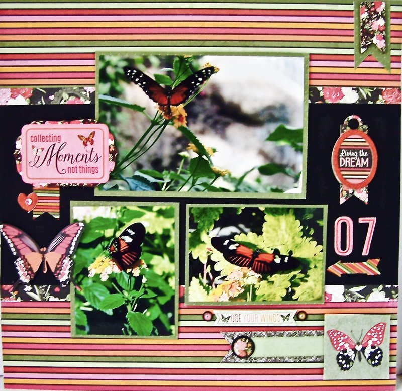 Bo Bunny Sweet Clementine Completed Layout