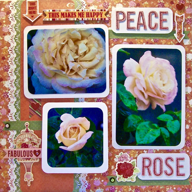 Finished scrapbook garden layout