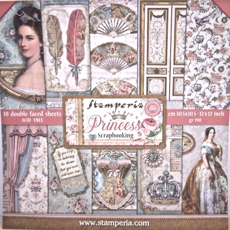Stamperia 12 x 12 Princess pad