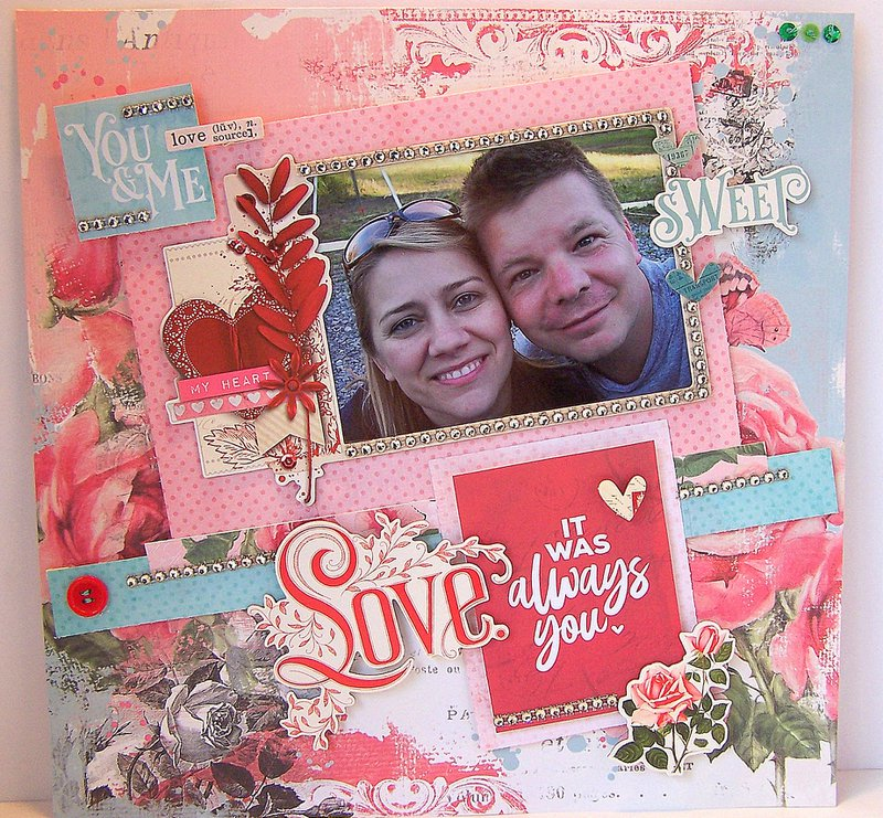 My Valentine Layout Simple Stories, FotoBella