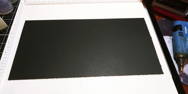 Black chipboard for cover