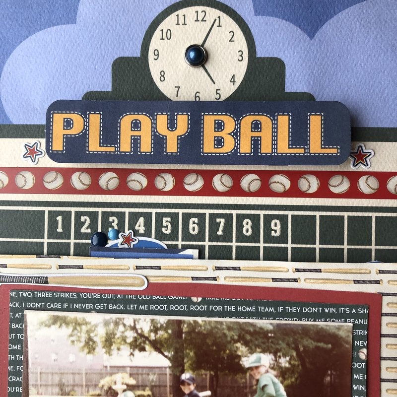 carta bella, baseball, scrapbooking