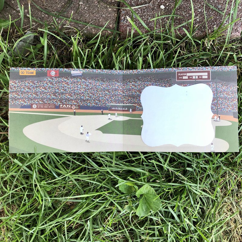inside card, baseball, fotobella