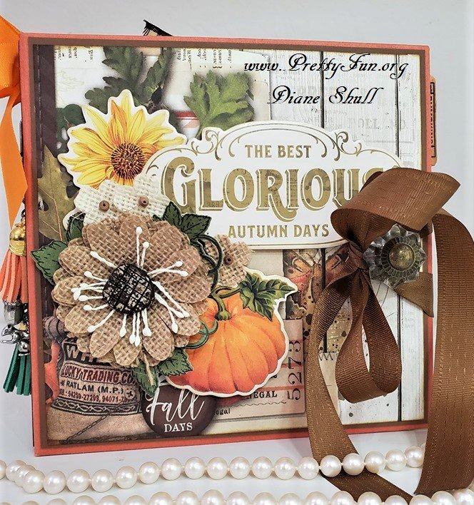 Simple Vintage Autumn Splendar Mini Album Front View
