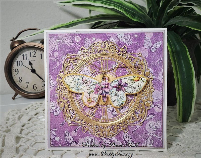 graphic 45, fairie wings, card