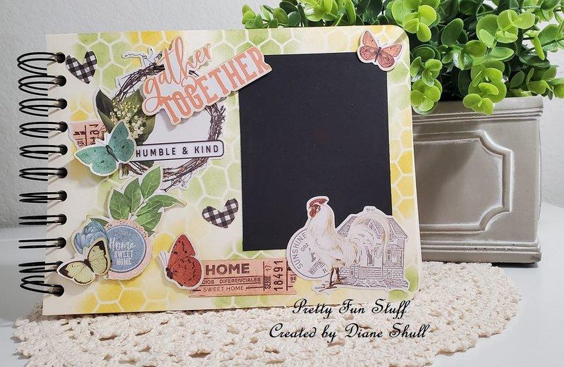 simple stories, farmhouse garden, fotobella, art journal