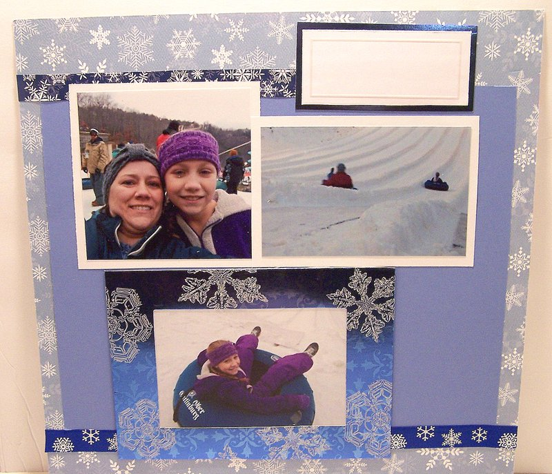 FotoBella Snow Scrapbook Themed layout