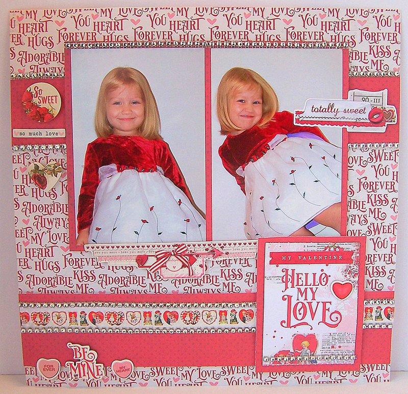 FotoBella Valentines Layout