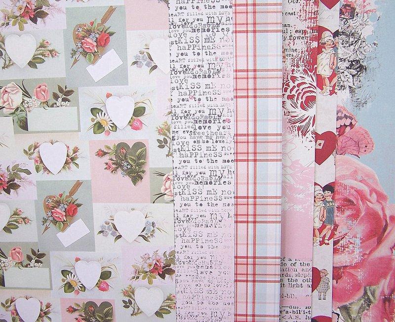 FotoBella Valentines Scrapbook paper