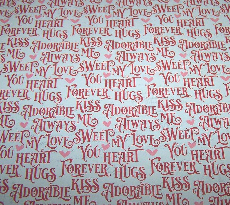 FotoBella Valentine's Scrapbook pattern paper