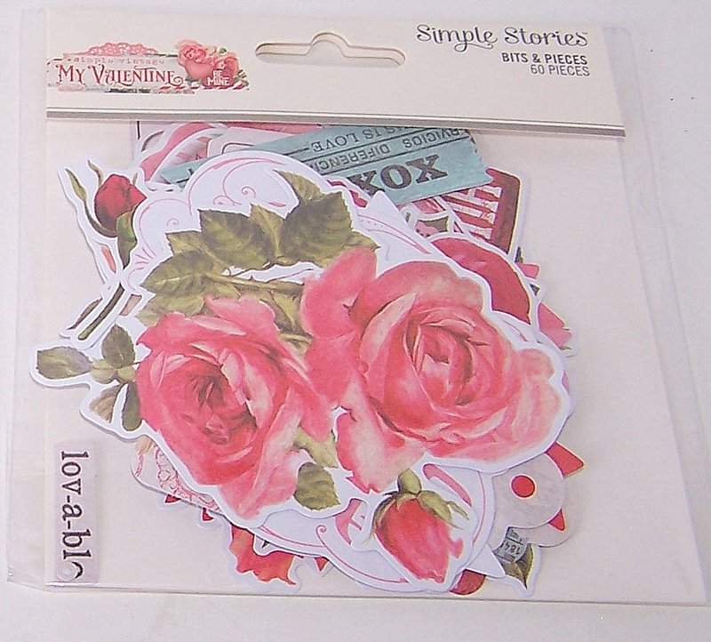 My Valentine Simple Stories Bits, and Pieces/FotoBella
