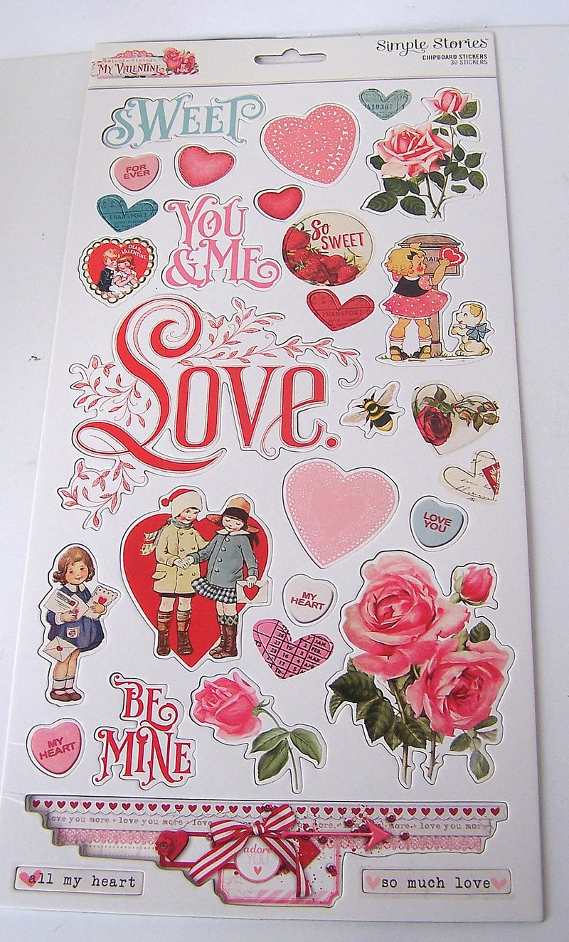 FotoBella Simple Storeis Valentine Chipboard
