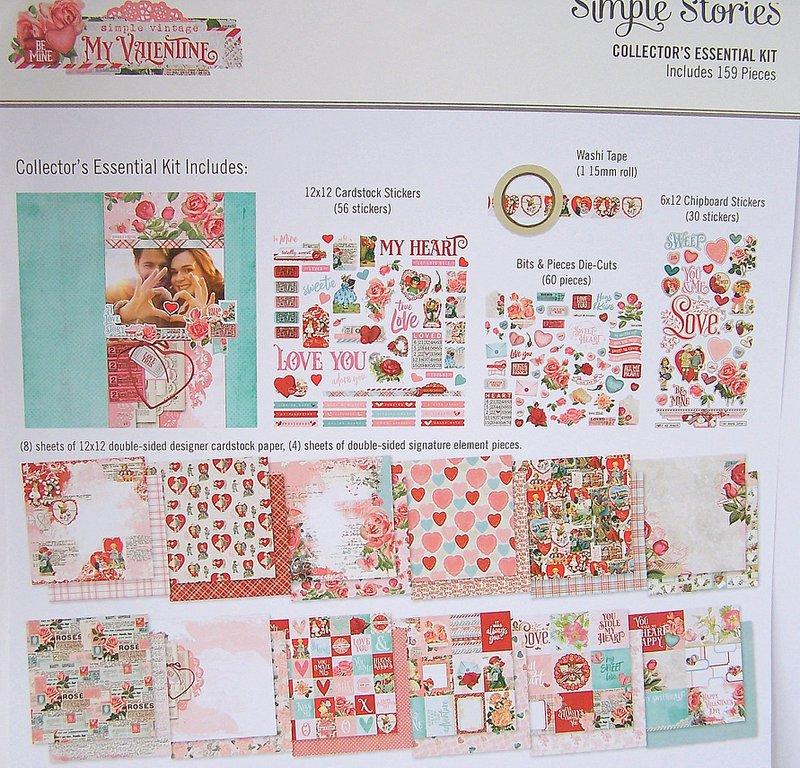 FotoBella Valentine Scrapbook Kit