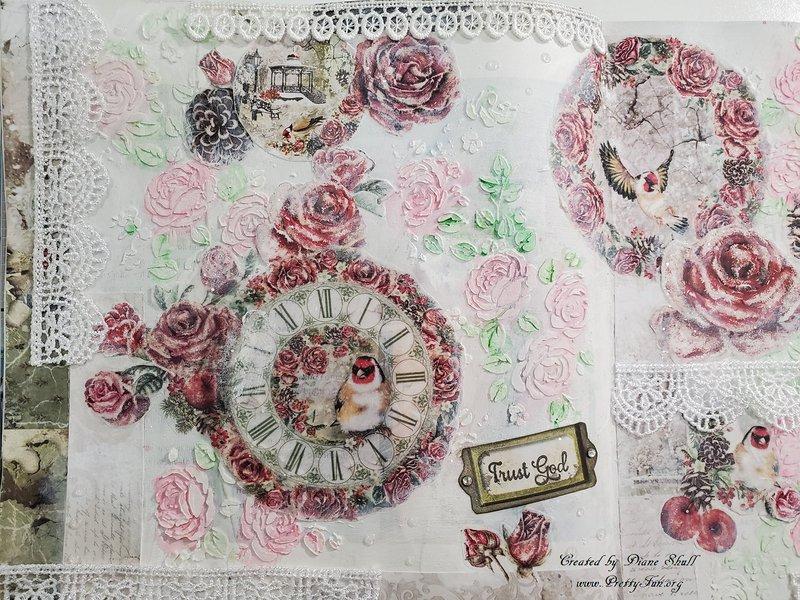 ciao bella, frozen roses, art journal, fotobella