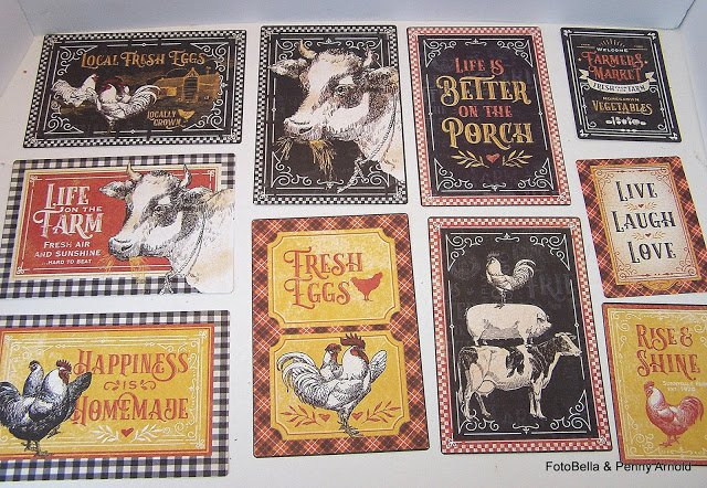 Graphic 45 Farmhouse Journaling Cards